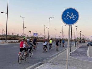 piste cyclable à Tunis