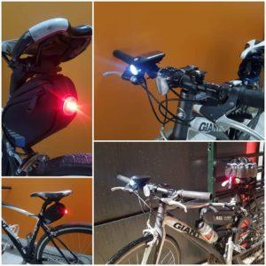 photo de lumières à vélo